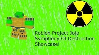 Roblox Project Jojo Symphony Of Destruction Showcase!