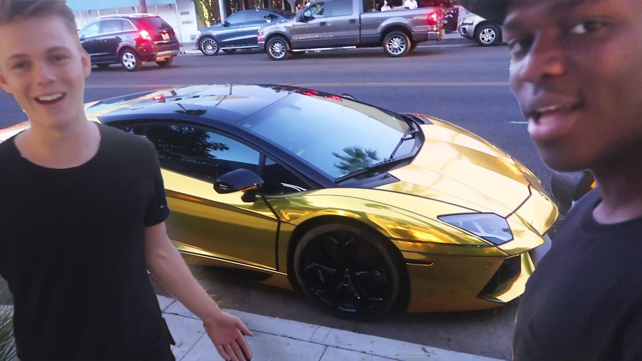 His New 100 Gold Lamborghini Youtube