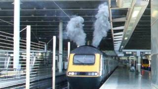 EMT 43064 departs St Pancrass with mega clag!