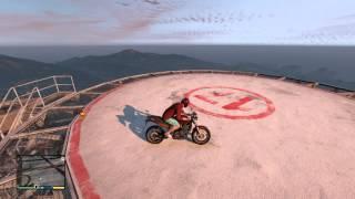 ボツ【GTA5】ヘルメットをかぶった状態で頭から落下すると死ぬのか!! thumbnail