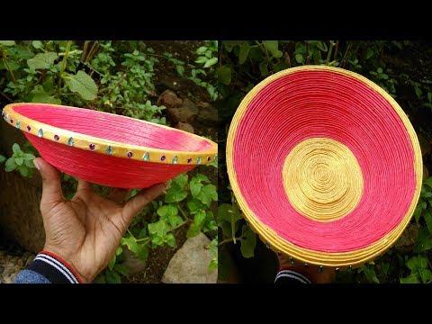 Newspaper Basket DIY Easy Easter Basket Paper Bowl With Newspaper craft