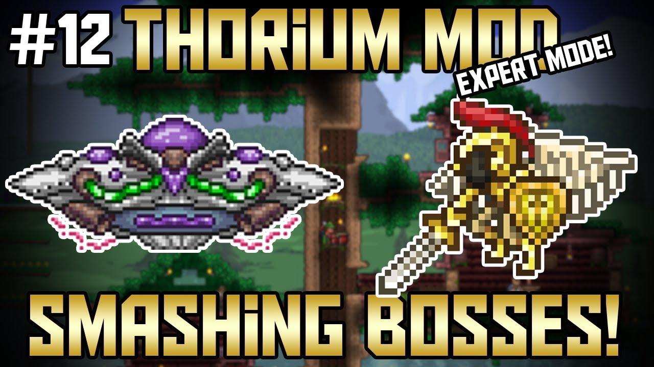 2 Boss Take Downs! Thorium Mod Expert Mode Bard Let's Play