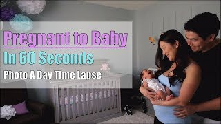 Awesome Pregnancy Time Lapse!  Pregnant to Baby in 60 Seconds [4K]