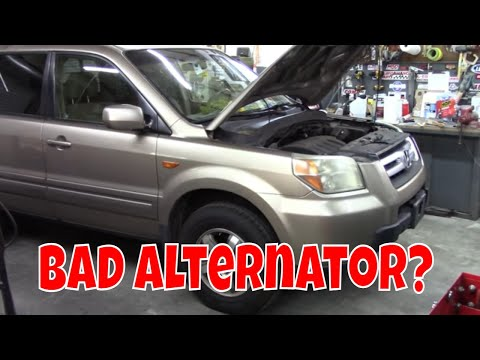 Honda Pilot alternator test and replacement. Lots of details.
