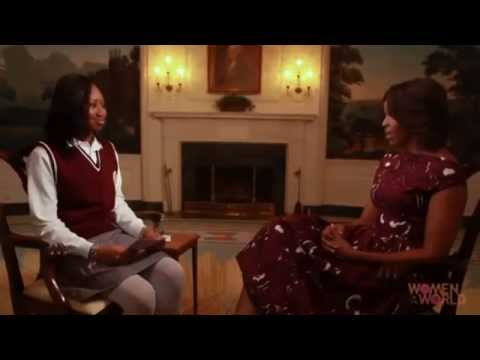 TheObamaDiary.com: First Lady Michelle Obama Talks Education With Nene Sy
