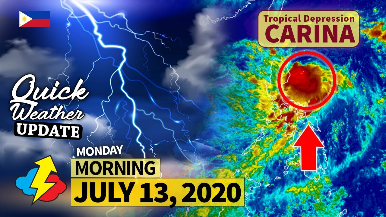 Tropical Depression #CarinaPH   Weather update today AM ...