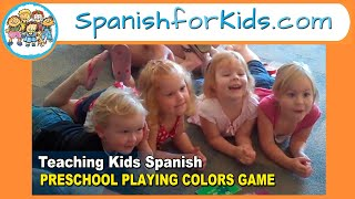 Teaching Kids Spanish: PRE-K PLAYING COLORS GAME