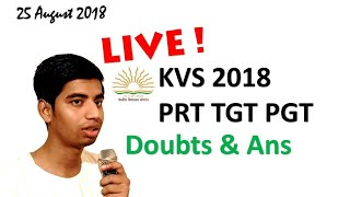 Live Talk on KVS Recruitment And Form Filling And Books