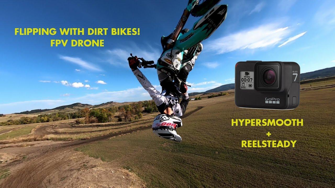 Drone meets FMX Hero 7 Black FPV + Reelsteady