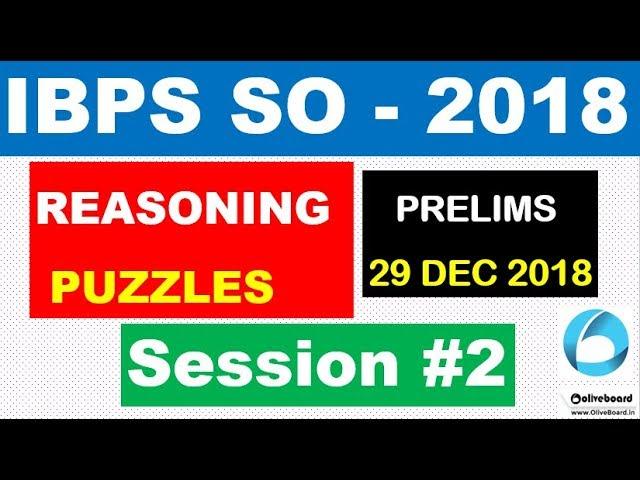 Puzzles and Sitting Arrangement for IBPS SO  , CLERK PRELIMS Exam (Session -2 ) | EXAM DATE 29 DEC