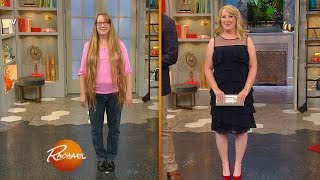 This Woman Just Chopped Her 45-Inch Hair — See Her Son's Emotional Reaction!   Rachael Ray Show