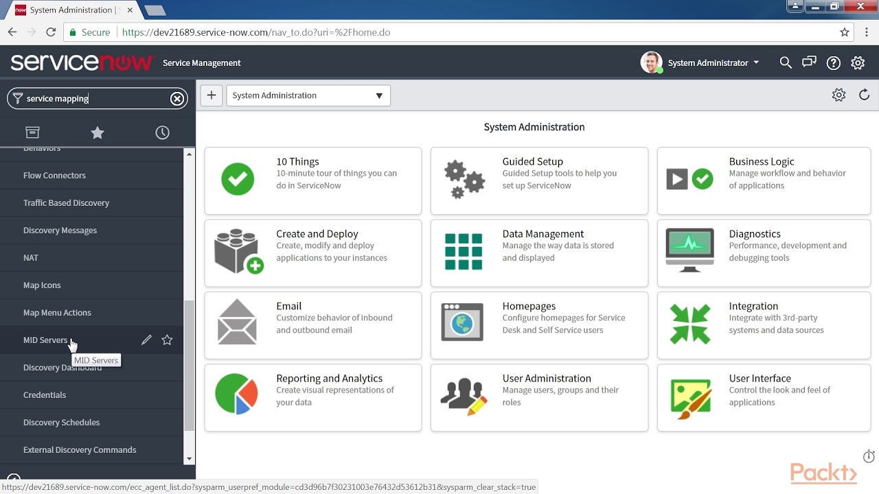 ServiceNow IT Operations Management – Activating the Service Mapping Plugin  | packtpub com