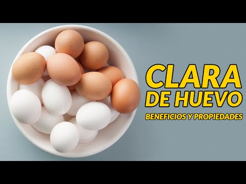 Propiedades clara de huevo para la piel