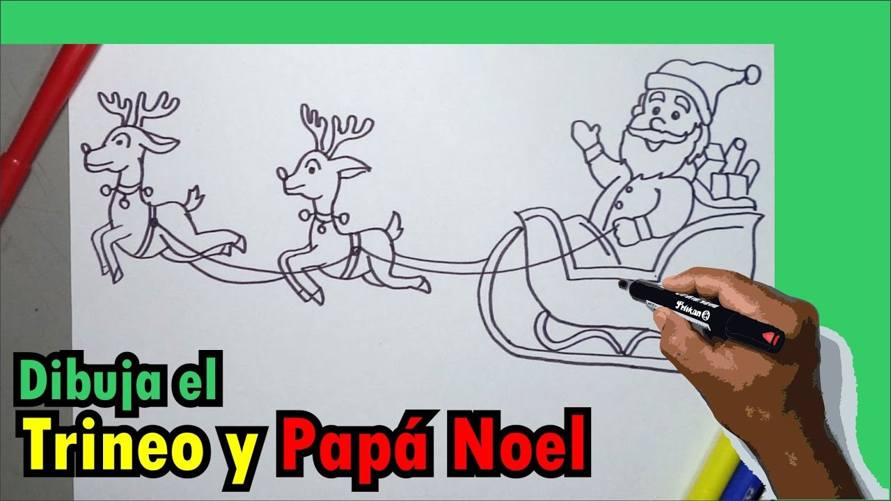 Aprende a dibujar paso a paso el trineo de Papa Noel, Santa Claus ...