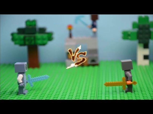 lego minecraft fight