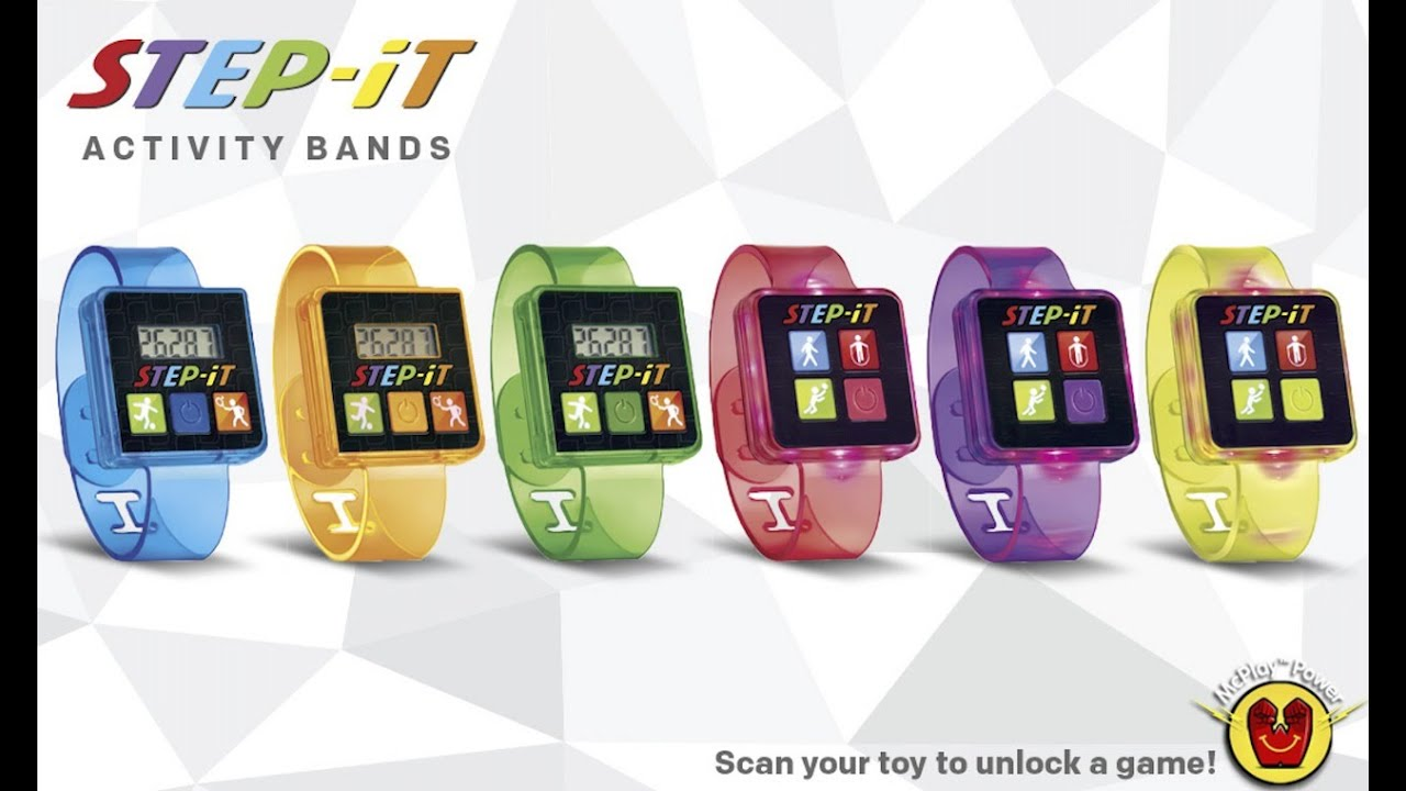 2016 Mcdonalds Step-It Activity Bands Next Happy Meal Toys ...
