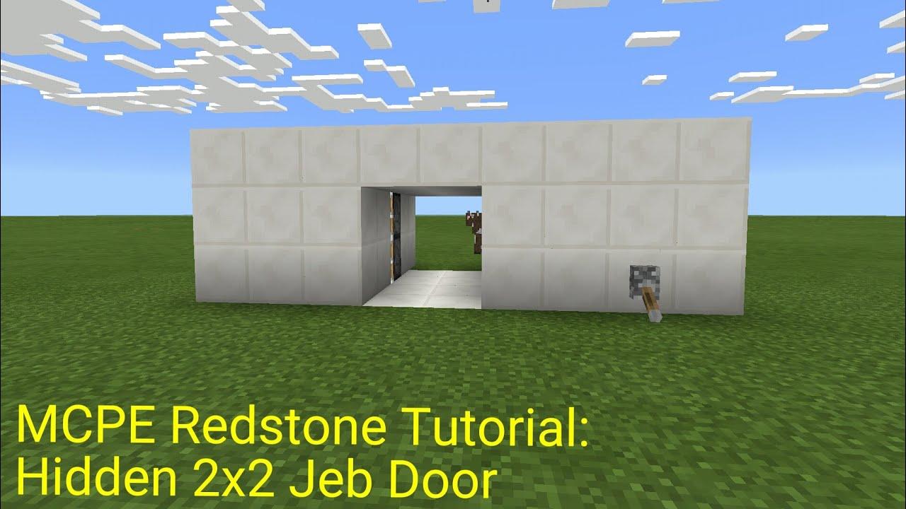Minecraft Pocket Edition Redstone Tutorial Hidden 2x2 Jeb