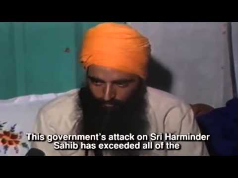 RARE Last Footage Of Shaheed Sant Jarnail Singh Ji Khalsa Bhindranwale June 1984