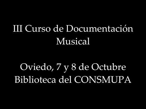 III Curso de Documentacion Musical