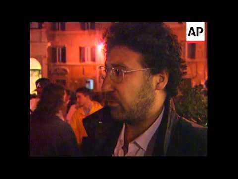 ITALY: JEWISH HOLOCAUST VICTIMS REMEMBERED IN TORCHLIGHT VIGIL