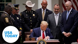 President Trump signs Safe Policing for Safe Communities executive order | USA TODAY