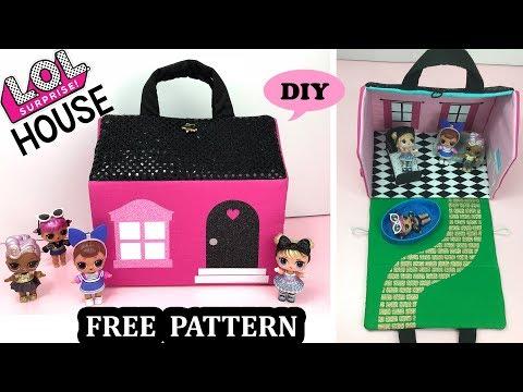 DIY LOL Surprise Doll Miniature DollHouse Purse 🏠 Free PDF Pattern