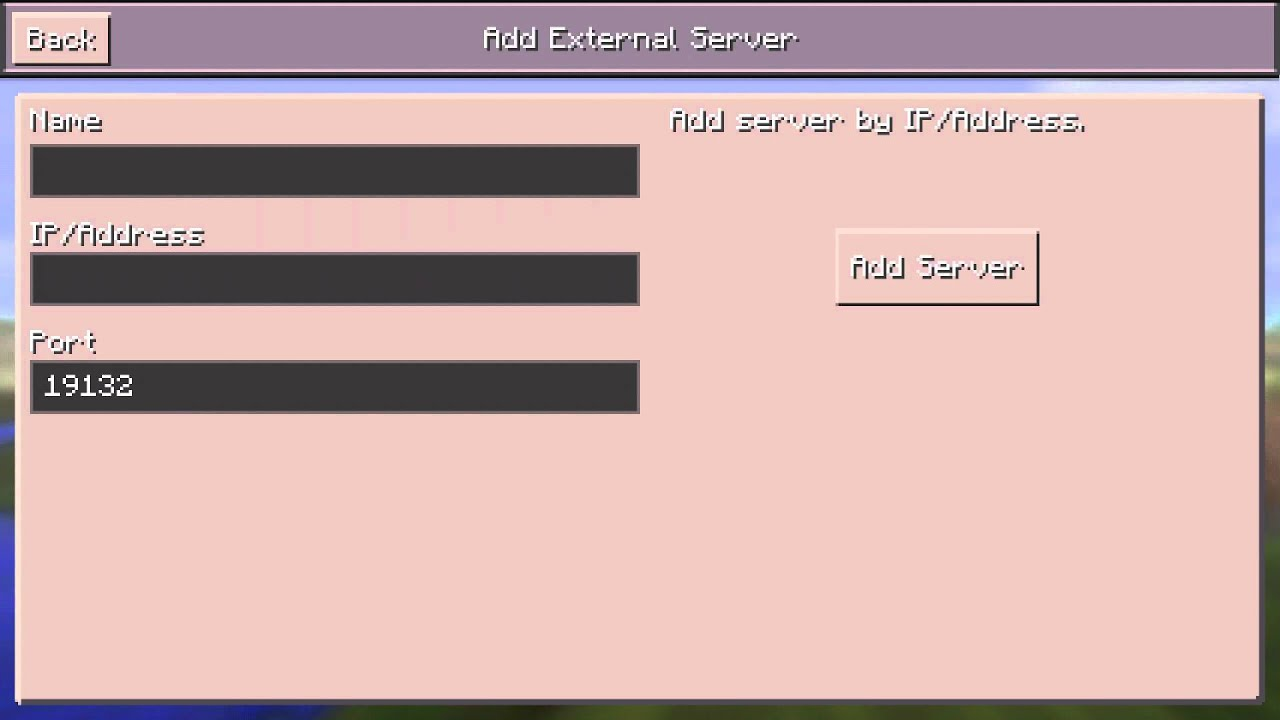 Айпи адреса для майнкрафта пе 0.14.0 без регистрации