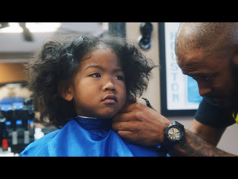 MY SON'S HAIRCUT AT A BLACK BARBERSHOP | VLOGMAS DAY 1