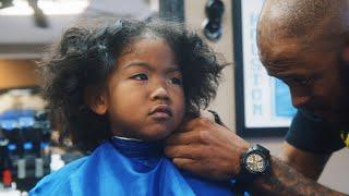 MY SON'S HAIRCUT AT A BLACK BARBERSHOP | VLOGMAS DAY 1