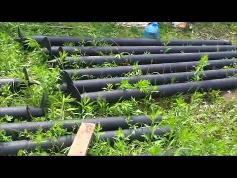 видео: Дом из СИП панелей / 001 Фундамент на винтовых сваях