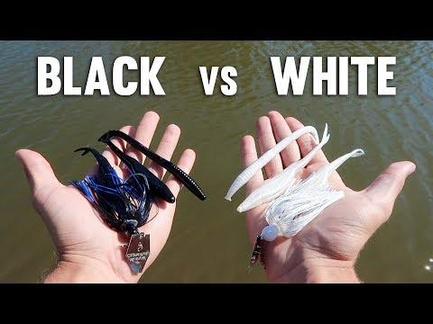 BLACK Vs WHITE Lure Fishing Challenge!!! (Walmart)