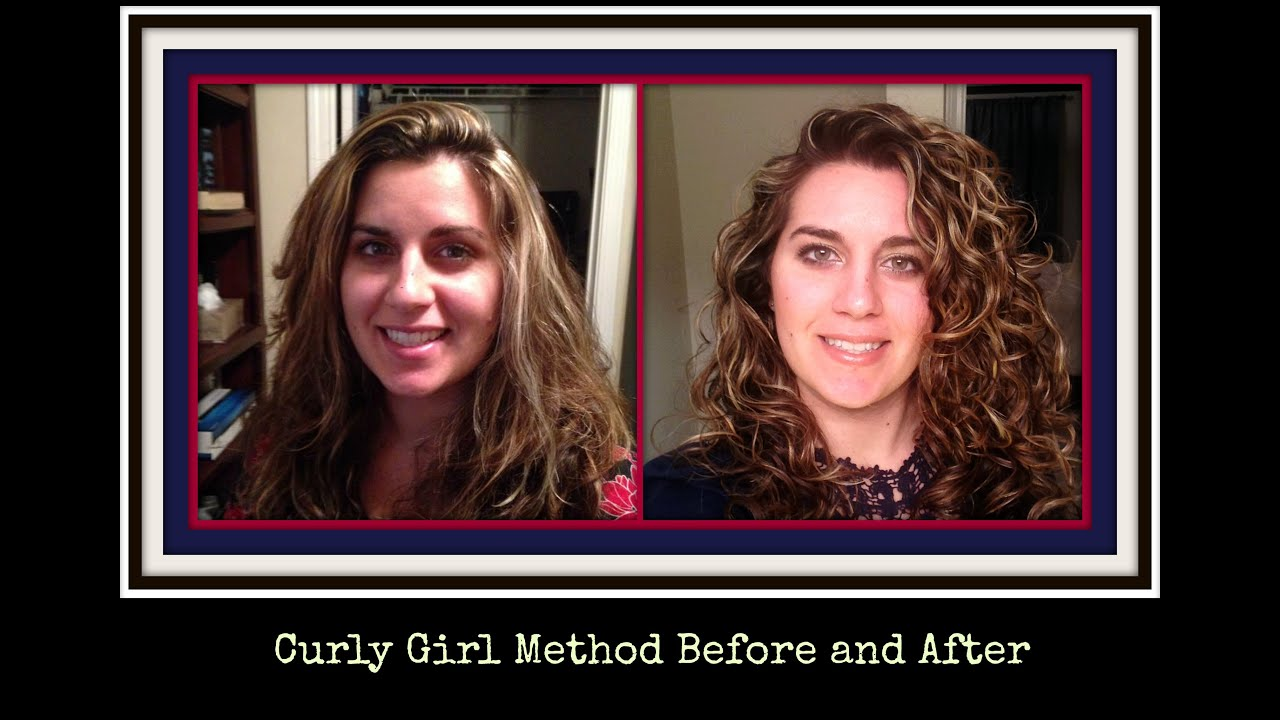 The Curly Girl Method Before And After Pictures Youtube