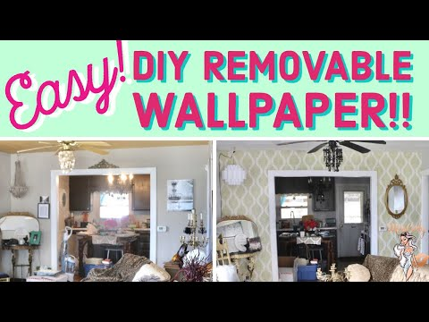 ✨ How To: EASY! DIY Removable Wallpaper!✨ ➡️Special Way!!!⬅️