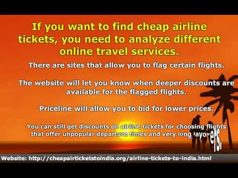 Save Money on Airline Tickets - Cheap Tickets to India