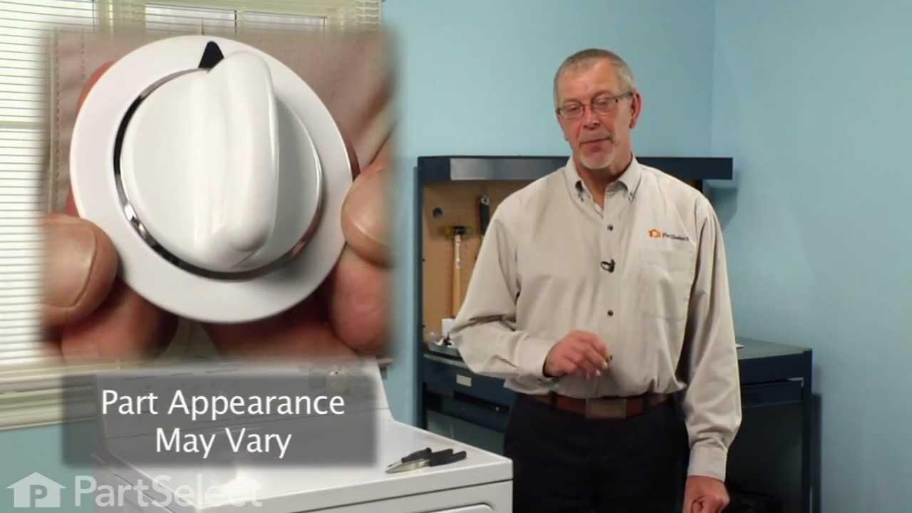 Dryer Repair Replacing The Timer Knob GE Part WE1M654