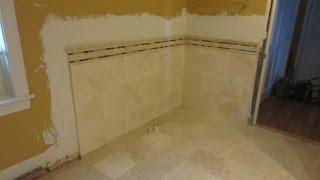 Travertine Tile Bathroom Time Lapse