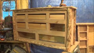 The Log Dresser Project. Part 3. Building The Drawers. Ready For Stain And Varnish.