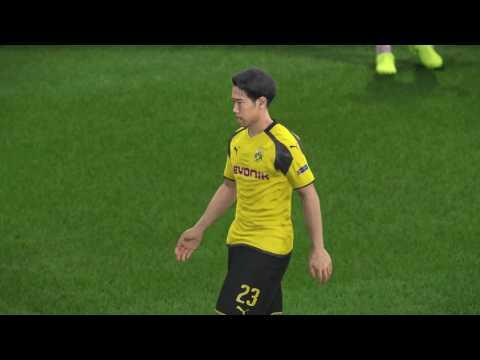 PES 2017 Borussia Dortmund vs Monaco Quarter finals , 1st leg l UEFA Champions League