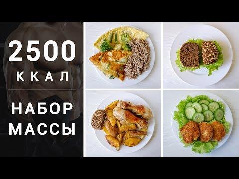 НАБОР МАССЫ 💪 МЕНЮ НА 2500 ККАЛ 🎖️ Правильное питание ⭐ Victoria Subbotina