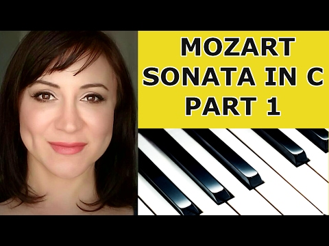 Mozart Sonata in C Piano Tutorial - Part 1