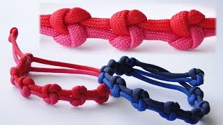"""How to Make a """"True Lovers Knot"""" Mad Max Adjustable Style Paracord Friendship Bracelet"""