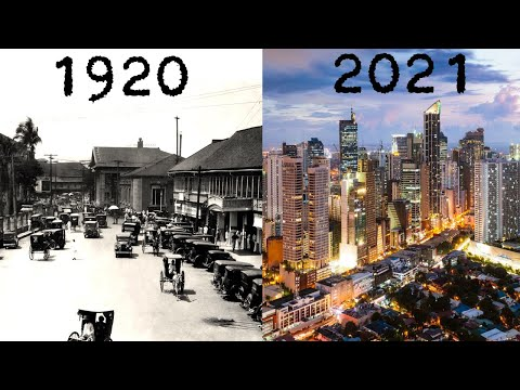 Evolution of Manila 1920 - 2021 (Philippines)