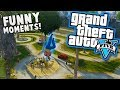 GTA 5 Funny Moments - Bird Hater, Car Launch Nut Shot, Parkour