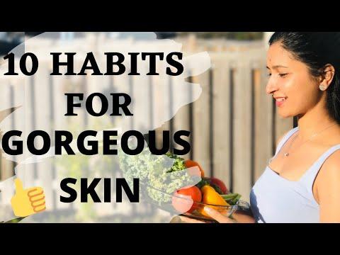 10 HABITS FOR GORGEOUS SKIN  HEALTHY SKIN   BEAUTY TIPS   BEAUTY SECRETS