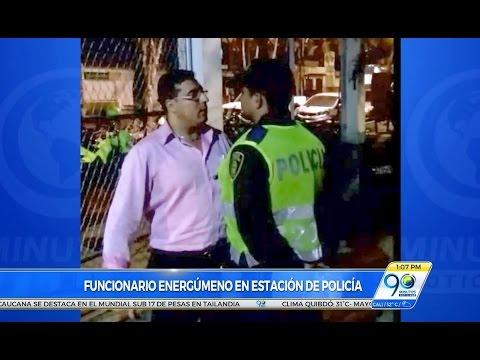 """Abr 6 17 Otro caso de """"Usted no sabe quién soy yo"""" funcionario judicial agredió a policías en Cali"""
