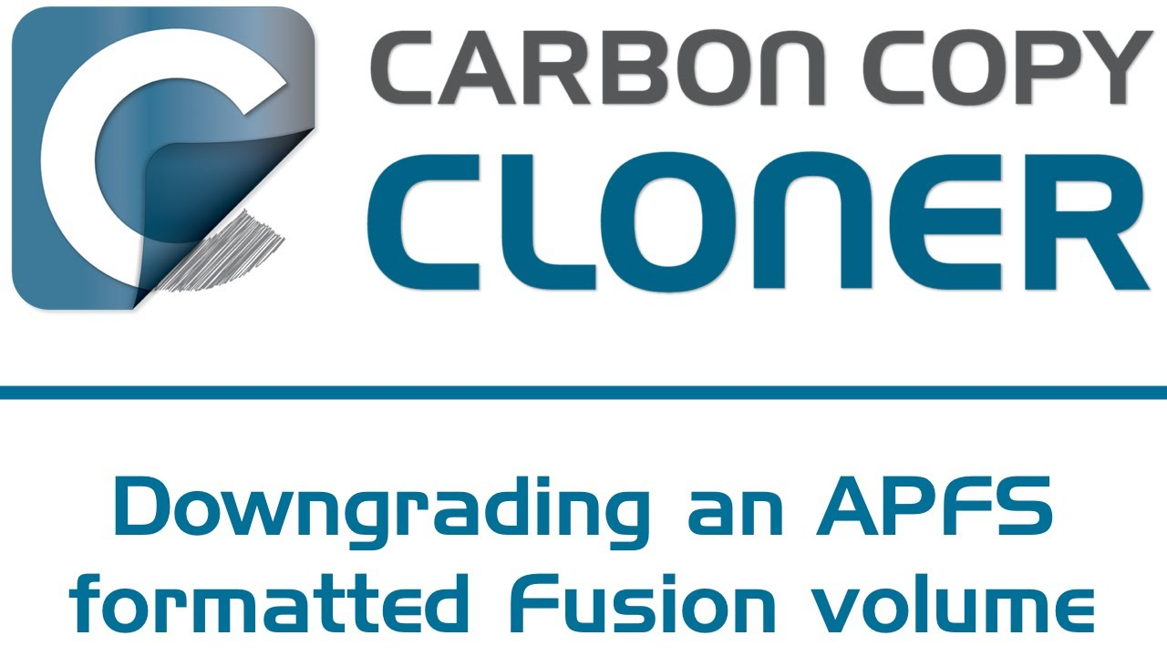 Downgrading an APFS-formatted Fusion volume from Mojave | Carbon