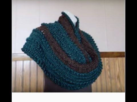 Learn How To Crochet Cable And Bobbles Oversized Ladies Infinity