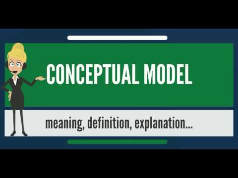 What is CONCEPTUAL MODEL? What does CONCEPTUAL MODEL mean? CONCEPTUAL MODEL meaning & explanation