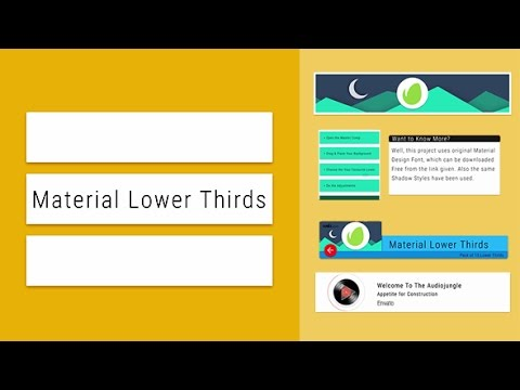 Flat Material Lower Thirds After Effects Template