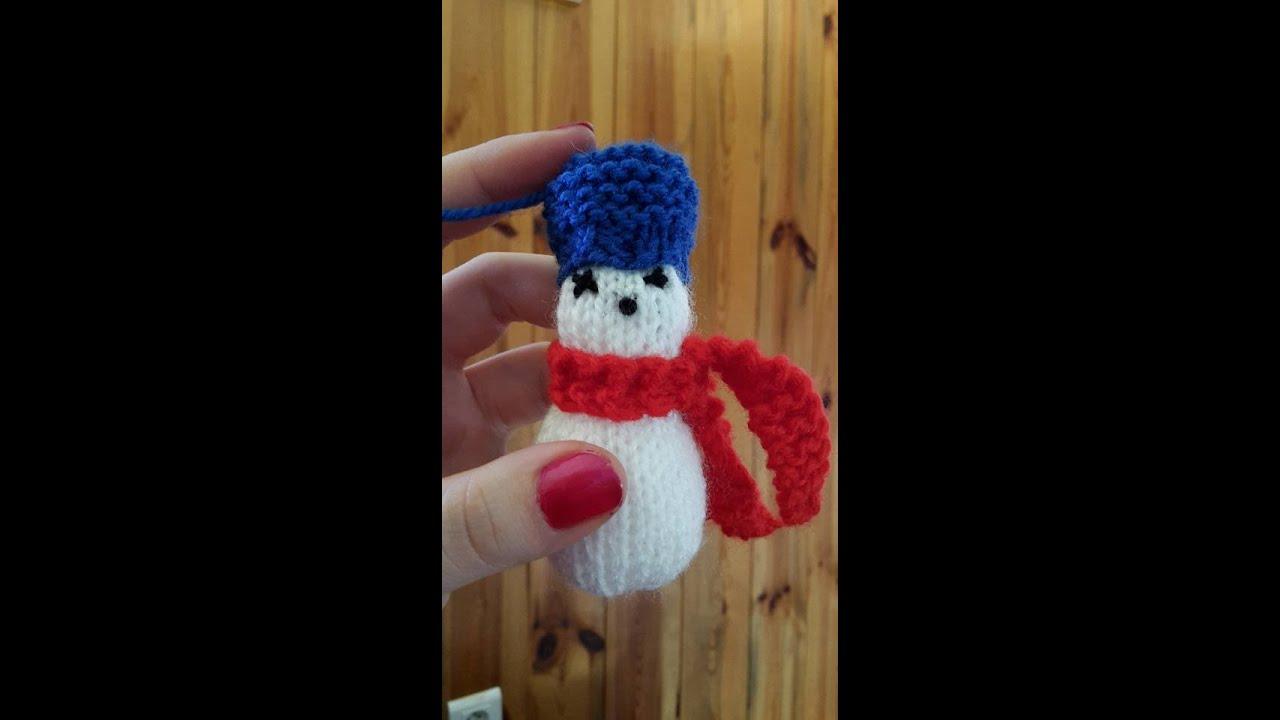 Tricoter Un Bonhomme De Neige Youtube